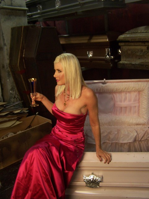 Caskets - pink casket 96.JPG $100 rental per week