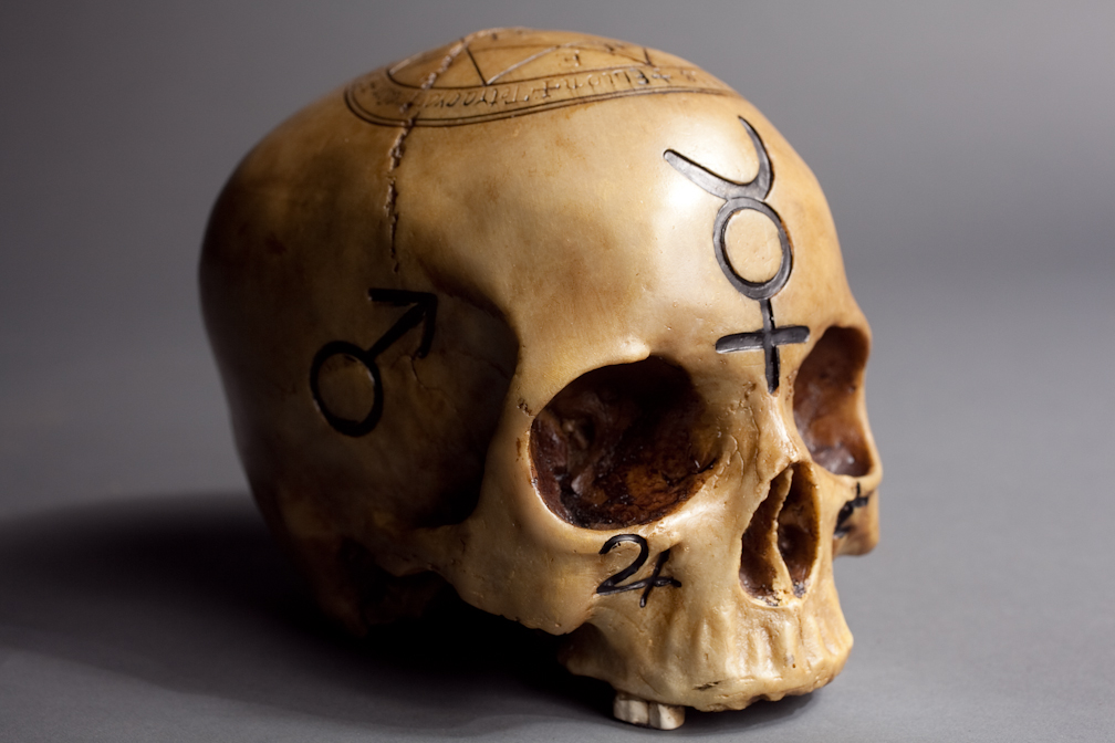 Props for rent portfolio haunted mansion alchemy for Alchemy skull decoration