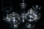 Assorted Apothecary Jars- five pieces for