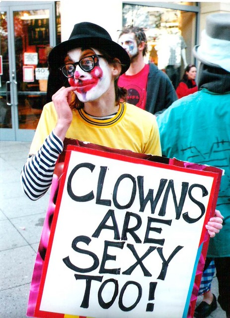 sexy looking clown