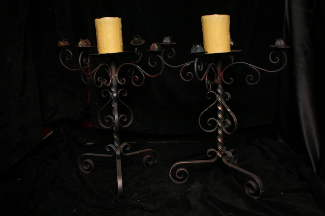 ironwork tabletop candelabra_0510