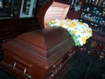 Caskets - cherrywood pushing daisies casket 3.JPG