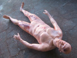 Male body with misc wounds