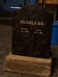 mcmilean engraved headstone