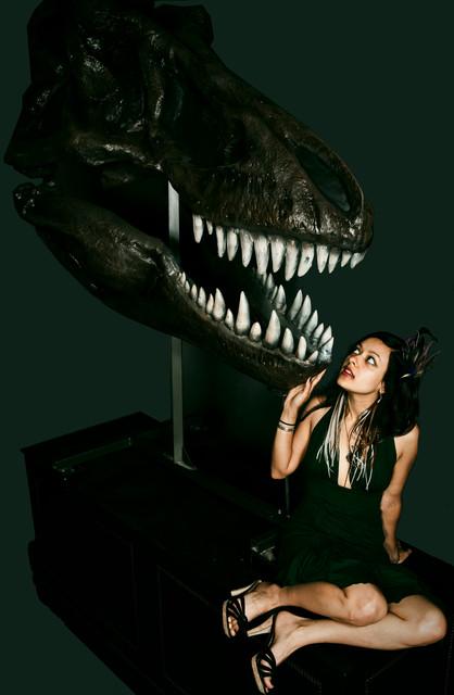 Lifesize Tyrannosaurus T Rex Skull Replica with stand