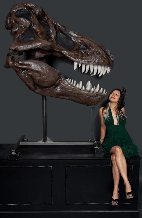 tyrannosaurus rex skull with base 4000.JPG