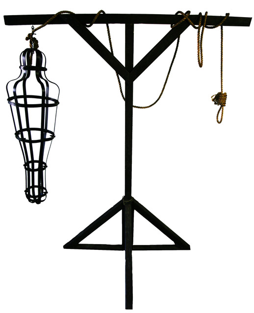 double gallow with gibbet cage 13ft tall