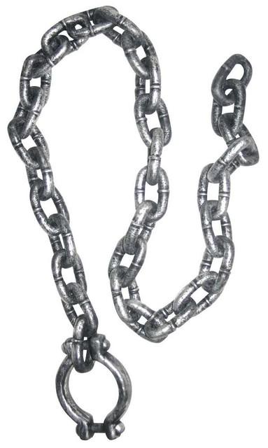 rusty manacle 5\' long shackle chain 80976