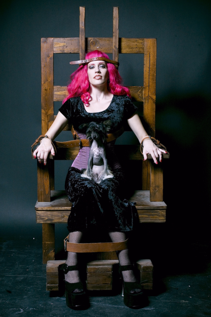 With sex Girl electric having chair a