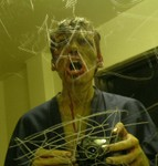 scratched mirror