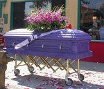 Purple Custom Casket