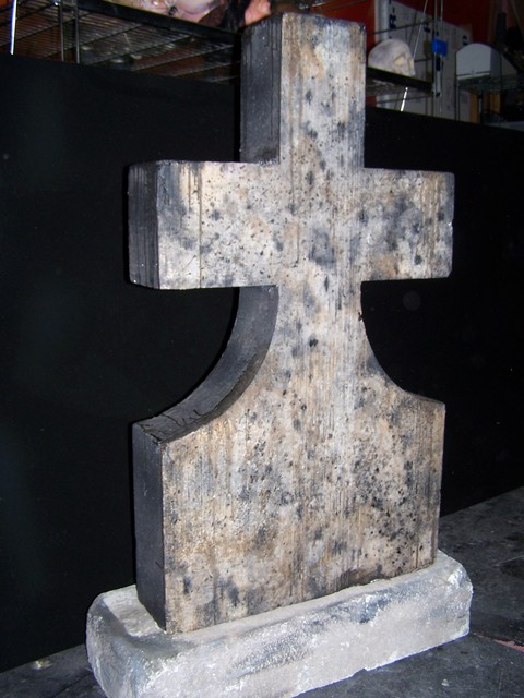 Crosses - 4 foot stone cross 34