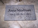 Headstones - anna morrison tombstone409